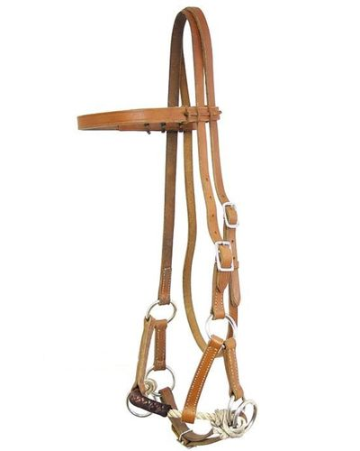 WI Sidepull Latigo Covered Noseband