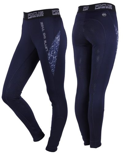 QHP Reitleggings / Reithose Pull-On Ella, navy