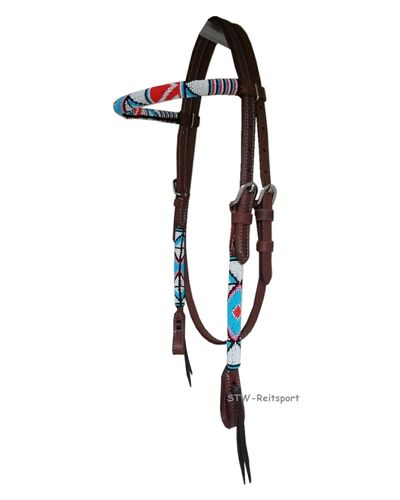 WI Westerntrense Beaded Red-Blue-White, VB